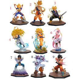 Wholesale Dragon Balls - Dragon Ball Z Action Figure Figuarts Zero Vegeta Son Gokou Triple Kaiouken Kamehameha Battle Ver. PVC Toy Dragonball Z Figure