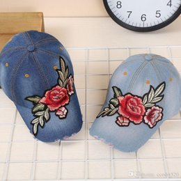 Wholesale Rose Tongue - All-match retro old baseball cap visor cowboy hat brim bent duck tongue embroidery hat male summer rose