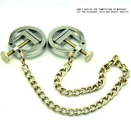 Wholesale Clitoris Clip - Fantasy Fetish Nipple Clamps Bdsm Sex Toys For Women Stainless Steel Chain Nipple Clip Clitoris Clips Sex Products