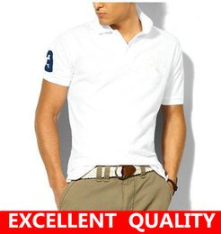 Wholesale Wholesale Brand Polo - Free shipping 2017 Brand Men's Polo short sleeve high quality Shirt Casual Cotton Men business Polo Shirts male Big Horse Embroidery Polo