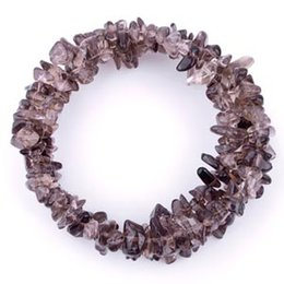 Wholesale Memory Wire Bangle - Teboer Jewelry 3pcs memory wire smoky quartz chips bracelets women bangle bracelet jewelry BJ080443
