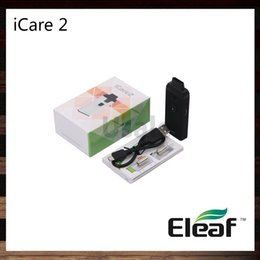 Wholesale Starter Kit Batteries - Eleaf iCare 2 Starter Kit 2ml Tank 650mah Battery Convenient Top Fill Solution Intuitive Indicating Four Color LEDs 100% Original