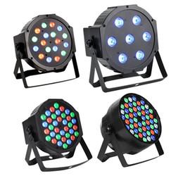 Wholesale 18x3w Led Lights - DMX512 Led Par Lights RGB Stage Lighting 54W 18X3W Led Lights For Party KTV Disco DJ Lighting club lights flash
