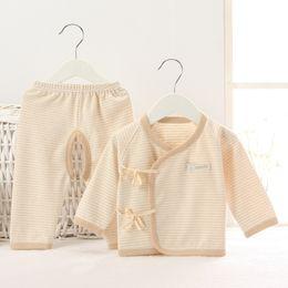 Wholesale Wholesale Children Clothing Japan - 2017 Newborn Clothes Gift Children Sleepwear Boys Pyjamas Kimono Japan Costumes 100% Cotton Girls Pajamas Long Tee Shirt trouser Soft
