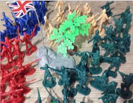 Giocattoli per bambini all'ingrosso modello di giocattoli militari regalo ragazzo giocattolo stallo furfante soldati dei soldati della seconda guerra mondiale che modella da