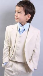 Wholesale Royal Blue Waistcoat - Custom Made Kid Notch Collar Children Wedding Suit Boys Attire Boy's Formal Wear Suits Three Piece Kid Suit(Jacket+Pants+Tie+Waistcoat)