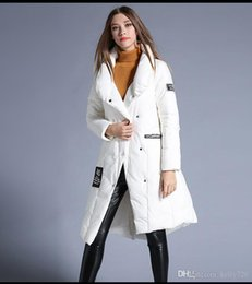 Wholesale Down Coat Ladies Pattern - 2016 Winter New Style Women Stand Collar Loose Extra Long White Duck Down Parka Ladies Jacket Coat