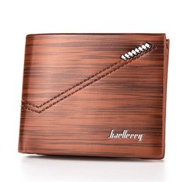 Wholesale Wholesale Long Mens Wallets - New Arrival PU Leather Wallets For Mens Designer Bifold Money Purse High quality Cluch Cente Fashion Traver Wallet Brown Color