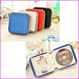 Wholesale Hard Disc Casing - (40 Disc) DVD VCD DJ Storage Album Bag Hard Box, DVD Storage Organizer Case Holder - 5 Colors