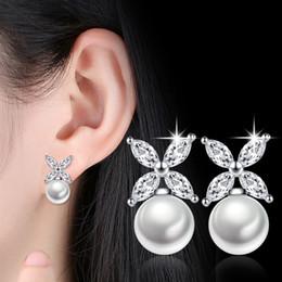 Wholesale Screw Jewelry - The new Pearl Silver Earrings girls long Tassel Earrings earpins geometric fashion temperament all-match jewelry
