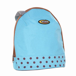 Wholesale Pattern Lunch Box - Wholesale- Hot Lunch Box Cooler Zipper Bag Bento Dot Tote Lunch Pouch Little Pattern