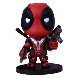 Комплекты моделей pvc онлайн-2016 Q версия X-men Wade Wilson Deadpool ПВХ кукла фигурку GK гараж комплект модель игрушки