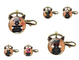 Wholesale Keychains Baby - High quality Hot Super Baby Cute Puppy Time Gem Metal Keychain Fashion Diy Key Chain KR219 Keychains mix order 20 pieces a lot