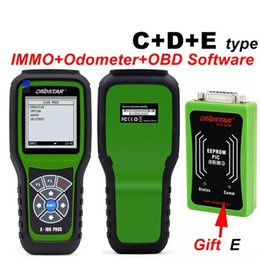 Wholesale Immo Bmw - 2017 OBDSTAR X100 PROS C + D + E model Key Programmer EEPROM adapter IMMO Odometer OBD EEPROM Best Seller Year 2017 Diagnostic Tools New