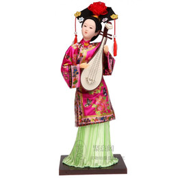Wholesale Gift Silk Painting Chinese - Tang Fang silk handmade painting Home Furnishing ornaments gifts crafts printing Chinese wind Qing Dynasty Princess