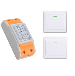 Wholesale Wireless Rf Remote Switches - Wholesale- 2016 products 220 v 1 ch RF wireless remote control switch 1 receiver+2 transmitter remote control With a paste