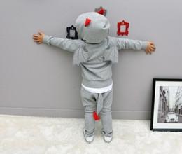 Wholesale Devil Suit Kids - Halloween Costume Kids clothes set Cosplay little devil party show boys or girls clothes suit free shipping