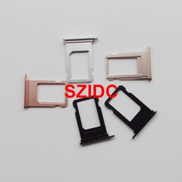 Wholesale Iphone Sim Part - Free DHL EMS Original New Nano Sim Card Tray Slot Holder Replacement Parts For iPhone 7 Wholesale