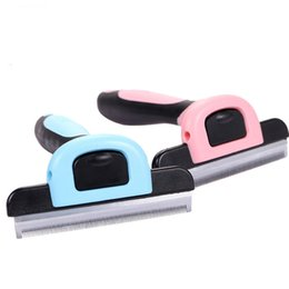 Wholesale Shedding Grooming Tool - Pet Grooming Tool Hair Removal Brush Comb for Dogs Cats Brush Detachable Hair Shedding Trimming Wholesale