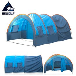 Wholesale People Window - Wholesale- (Ship From Russia & China) Hewolf Quick Installation 2 Room 1 Hall 5 Window 8-10 People Waterproof Outdoor Fishing Camping Tent