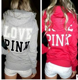 Wholesale Harajuku Hoodies - Love Pink Hoodie Women Casual Harajuku Hoodies Women Vs Pink Kpop Spring Moletom Feminino Polerones Mujer tracksuits clothing