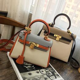 europäische beutelmuster Rabatt 2017 neue Europäische stil retro mode Lichee Muster kontrast colo handtasche dame Kylie Bag Schulter Messenger Bag kostenloser versand