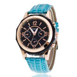 Wholesale Fake Tags - Foreign trade explosion models Geneva Geneva fake six eye three needle ladies belt watch men's outdoor quartz watch