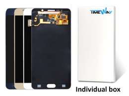Wholesale Note Screen Parts - Blue white New Original LCD Touch Screen Digitizer Replacement Parts For Samsung Galaxy Note 5 N920 N920A Free DHL Shipping