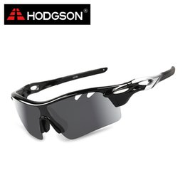 Wholesale Detachable Sunglasses - Wholesale- HODGSON 1018 Brand New Polarized Cycling Glasses Sports Eyewear Unisex Bicycle Goggles Outdoor Sunglasses with Detachable Lens