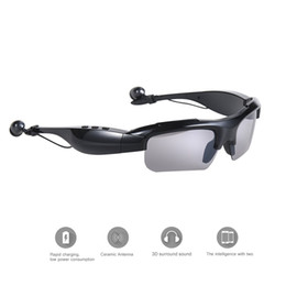 Wholesale Bluetooth Headphones Sunglasses - Newest Edition Bluetooth V4.1 Sunglasses Headphones Sports Stereo Sunglass Headsets with Handsfree Answer Music Mp3 Player