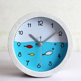 Wholesale Reloj Despertador Led - Wholesale-Mediterranean fish home decor reloj despertador al fajr clock watches quartz digital automobile clock retro watch plastic white