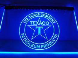 Wholesale Gas Signs - LG122b- TEXACO PORCELAIN GAS PUMP Bar Neon LED Neon Light Sign
