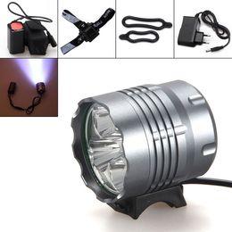 Wholesale Headlamp X Cree - Waterproof 8000Lm 5 x CREE XM-L U2 LED Front Bicycle Light Bike Headlamp Headlight for Camping Fishing Caving BLL_007