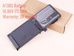 "Wholesale A1286 Battery - Wholesale-Original Li-ion Battery 10.95V-77.5WH A1382 Battery For Macbook Pro Unibody 15"" A1286 2011 2012"