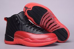 Wholesale Canvas Shoes Wings - 2017 Air Retro 12 Basketball shoes All Black OVO Cherry red Flu Game French Blue GYM RED PSNY Taxi Wing Gold Running shoes men sneakers