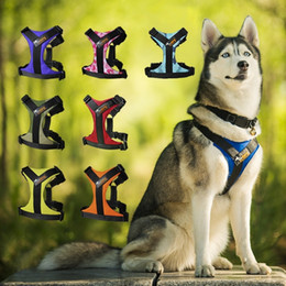 Wholesale Dogs Cloths - High Quality Adjustable Dog Harness 4 Sizes S M L XL Dog No Pull Easy Walking Running with Handle