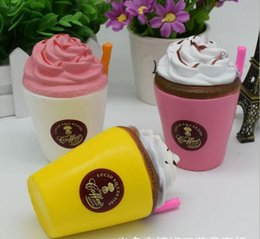 Wholesale Wholesale Ice Cream Cups - 11CM Ice Cream Coffee Cup Squishy Toys Slow Rising Cute Kid Toy Scented Soft Squeeze Gift Pretend Play Props