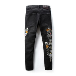 Wholesale Mens Embroidered Jeans - hot mens designer robin jeans high quality men Robbins jeans famous brand robins denim with embroidered biker jeans for men plus size 29-38