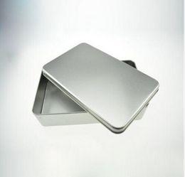 Wholesale Tea Gift Tins Wholesale - Wholesale rectangle silver tin box,plain metal storage case bin tea gift box plain metal storage case bin tea gift box,320pcs