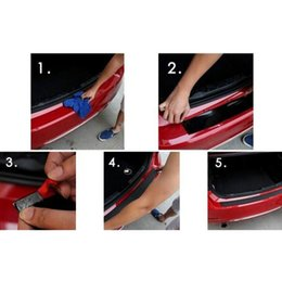 Wholesale Rear Bumper Guard Protector - rear bumper protector Yawlooc 1 pc lot Car Styling Door Sill Guard Car SUV Body Rear Bumper Protector Trim Cover Protective Strip Black
