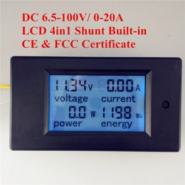 Wholesale Digital Dc Current Voltage Panel - PEACEFAIR DC 6.5-100V 20A 4IN1 digital display LCD screen voltage current power energy voltmeter Ammeter Panel meter