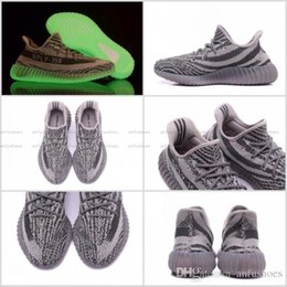 Wholesale Glow Turtles - 2017 350 V2 SPLY Turtle Dove Glow in the Dark Boost 350V2 Kanye West Sport Trainers Shoes Sneaker Eur 36-46 Hot Sell