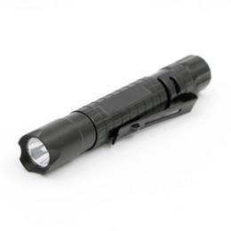 luzes de ímã de bateria led Desconto Portátil Mini Penlight Lâmpada XPE-R3 LED Caneta Lanterna Tocha 1-Modo de Bolso Luz Lanterna Lâmpada Ao Ar Livre Caminhadas Luzes de Acampamento