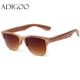 Wholesale Mix Match Vintage - Wholesale-ADIGOO Fashionall-Match Wood Sunglasses Female Sunglasses Women Vintage Retro Designer Fashion Sunglass Men Retro Sun Glasses