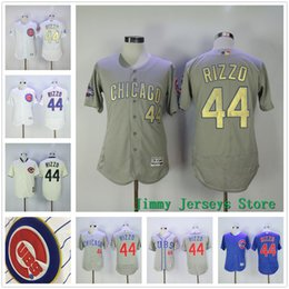 Wholesale Good Nice New - New Chicago Cubs Jersey 44 Anthony Rizzo baseball Jerseys 2017 Gold Program Good Quality Nice Color Blue White Cream Grey Free Shipping