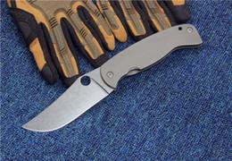 Wholesale Drop Shipping Fishing - SPIDER FARID-K2 titanium alloy folding knife outdoor survival knives tactical knife camping pocket folding knife tools drop shipping 1pcs