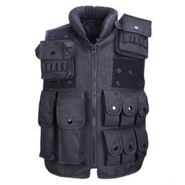 Wholesale Tactical Magazines - Tactical Vest Cool Mens Hunting Vest Outdoor Training Military Army Swat Vests Men Waistcoat Protective Magazine Pouch Black