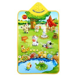 Wholesale Baby Bass - Wholesale- TOP Selling Kids Safety Mat Multifunction Music Sound Farm Animal Carpet Gym Creep Training Toy Great Gift Protecting Babies