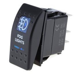 12v interruttori a bilico Sconti Nuovo 12V / 24V vendite auto impermeabile Bar Carling Rocker Toggle Switch blu LED indicatore luminoso AUP_20O