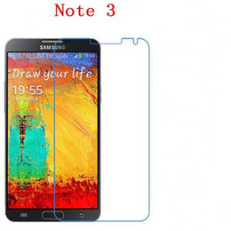 Wholesale Note3 Screen - For Samsung Galaxy Note2 N7100 Note3 N9000 Note4 N9100 Note5 9H Tempered Glass phone film Phone Protective Phone film touch screen protector